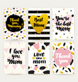 happy mothers day trendy posters vector image