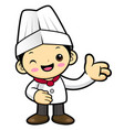 head chef character guide gestures isolated on vector image vector image