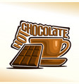 hot chocolate vector image vector image