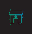 house building hospital icon vestor design vector image