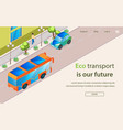 inscription eco transport is our future lettering vector image vector image