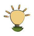 isolated ecologic bulb vector image vector image