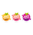juice fresh fruit banner orange berry peach vector image