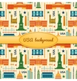 Landmarks of United States of America background vector image vector image
