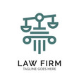 law firm logo design inspiration vector image vector image