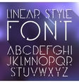 linear font High tech cosmic style font vector image