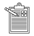 medical order with pencil writing vector image