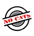 No Cats rubber stamp vector image vector image