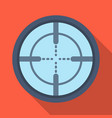 optical sightpaintball single icon in flat style vector image