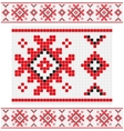 Ornament white stroke vector image