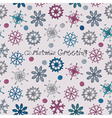pattern with snowflakes vector image vector image