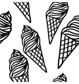 Perfect seamless pattern with ice cream cones vector image