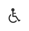 Pictogram of Disabled in Wheelchair vector image vector image