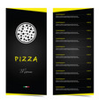 pizza menu food in color vector image