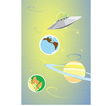 Planets and Alien vector image vector image