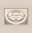 premium invitation vector image