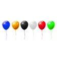realistic balloons birthday and holiday party vector image
