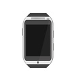 Realistic white smartwatch vector image