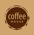 round logo imprint of coffee vector image vector image