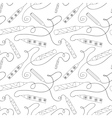 Seamless pattern with pencils vector image