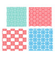 seamless tracery pattern in modern korean style vector image vector image