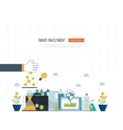 Smart investment finance market data analytics vector image vector image
