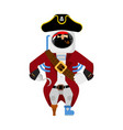 space pirate filibuster spaceman buccaneer vector image vector image