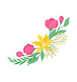 spring flowers on white background floral concept vector image