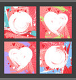 square valentines day social media templates vector image vector image