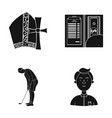 study bank preaching and other web icon in black vector image vector image