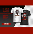 t-shirt template fully editable with barber shop vector image