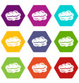 technology cloud icons set 9 vector image