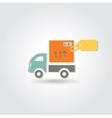Van delivery concept icon vector image vector image