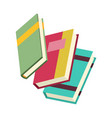 various books stack books notebooks set vector image vector image
