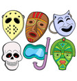 various masks collection 1 vector image