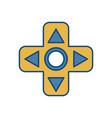 Videogame controller arrows icon
