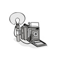 Vintage Camera Flash Bulb vector image