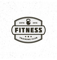 vintage fitness gym logo retro styled sport vector image vector image
