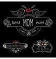 Vintage Mothers Day Labels Set On Chalkboard best
