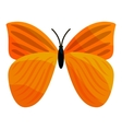 Yellow butterfly icon cartoon style vector image vector image