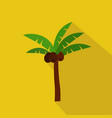 palm cartoon flat icon brazil summer vector image