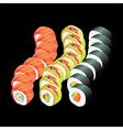 sushi dragons vector image