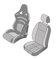 Isolated Car Seat set vector image