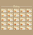 set for bakery vector image