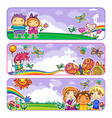 summer camp banners vector image