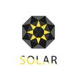 abstract symbol sun solar technology logo vector image