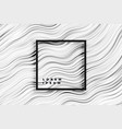 abstract wavy black and white stripes background vector image vector image