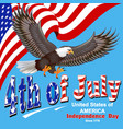 america independence day greeting card with flag vector image