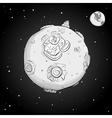astronaut on the moon monochrome vector image