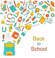 Background for Back to School Education Simple vector image